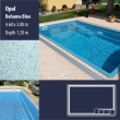2801 Opal Compact Ceramic IG Pool Package Bahama Blue - 4,60 x 3,00 m x 1,20 m dyb