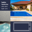 2804 Saphire Compact Ceramic IG Pool Package Tenerife Grey - 6,00 x 3,00 m x 1,20 m dyb